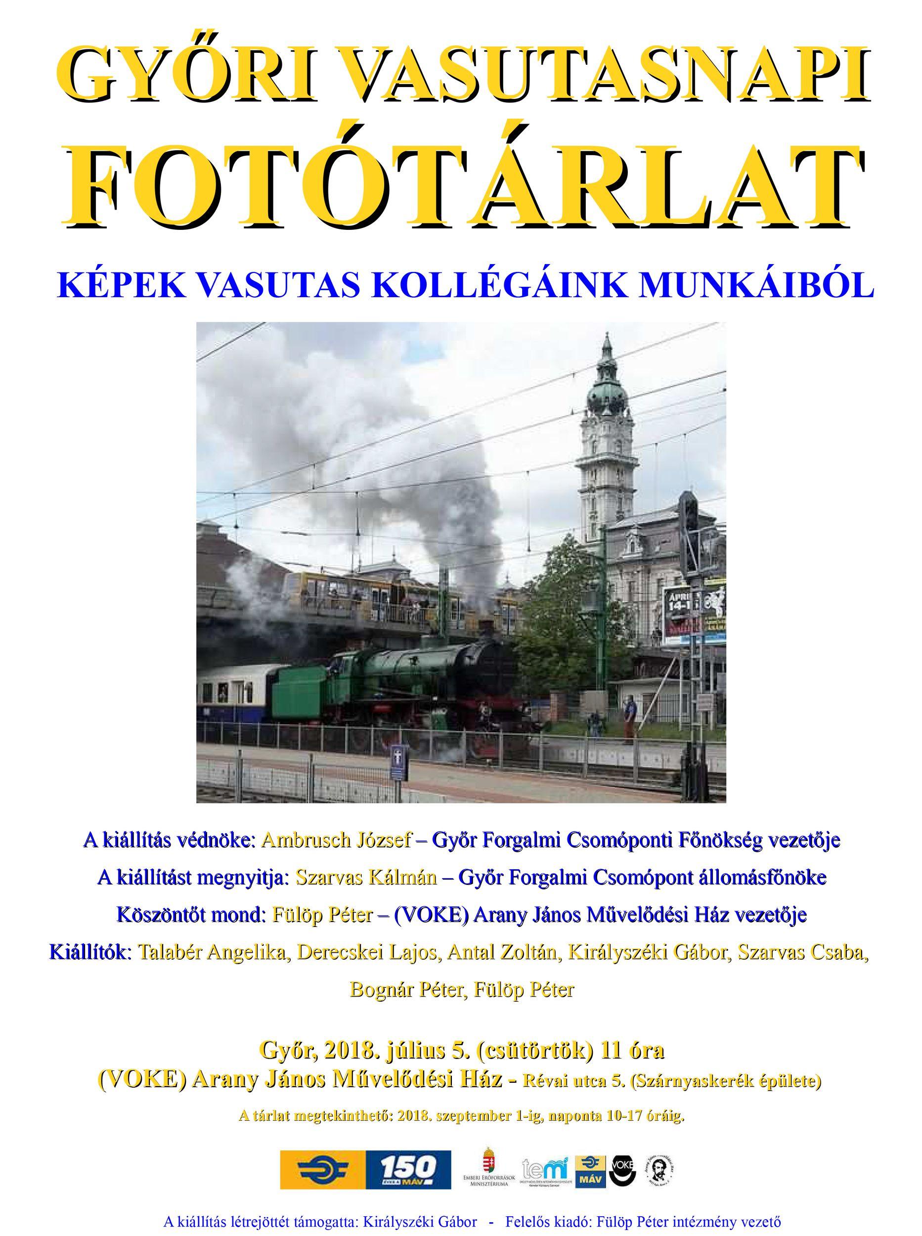 5fc94ef8d7 Győri Vasutasnapi Fotótárlat   Vasutas Országos Közművelődési- és ...