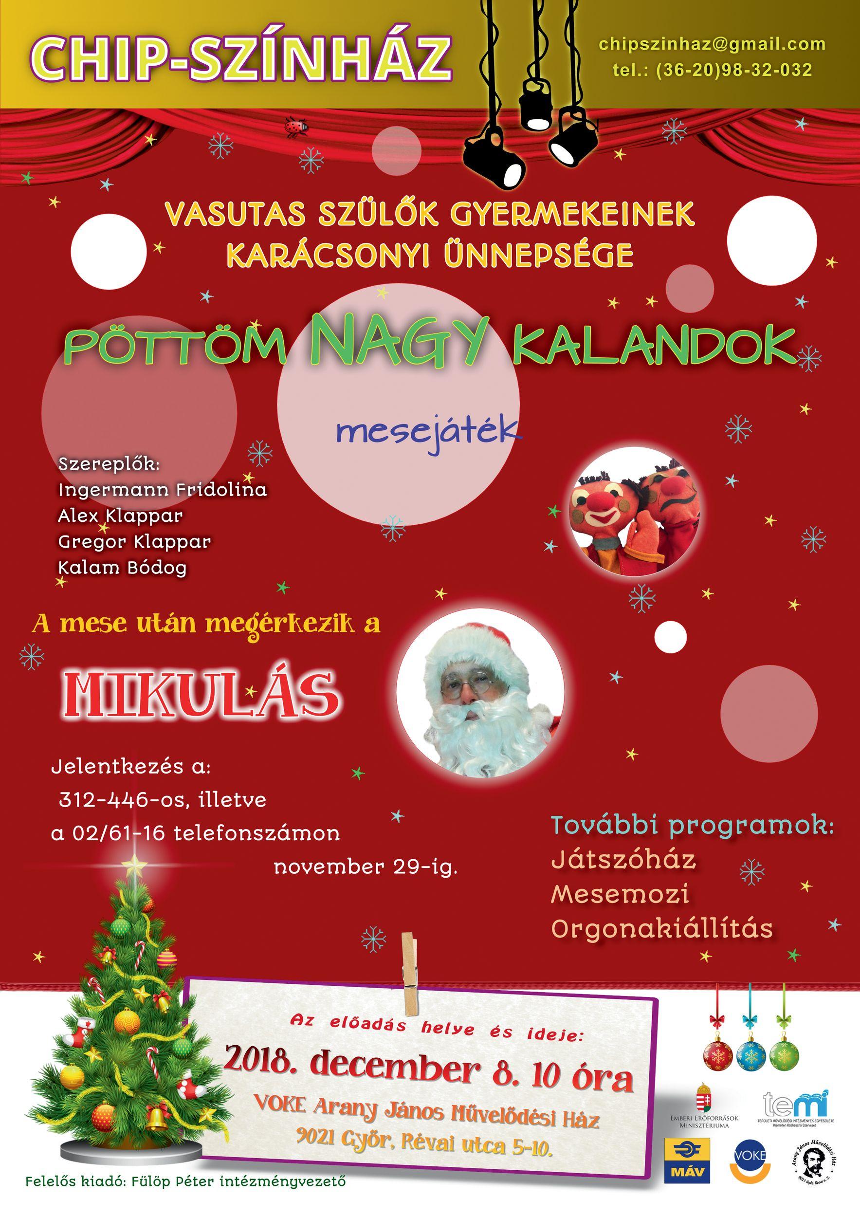 d02bf6b9fc Vasutas Szülők Gyermekeinek Karácsonyi Ünnepsége Győrött   Vasutas ...